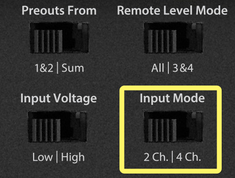 JL Audio Amplifier Input Mode