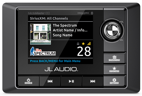 JL Audio MediaMaster day and night mode screens